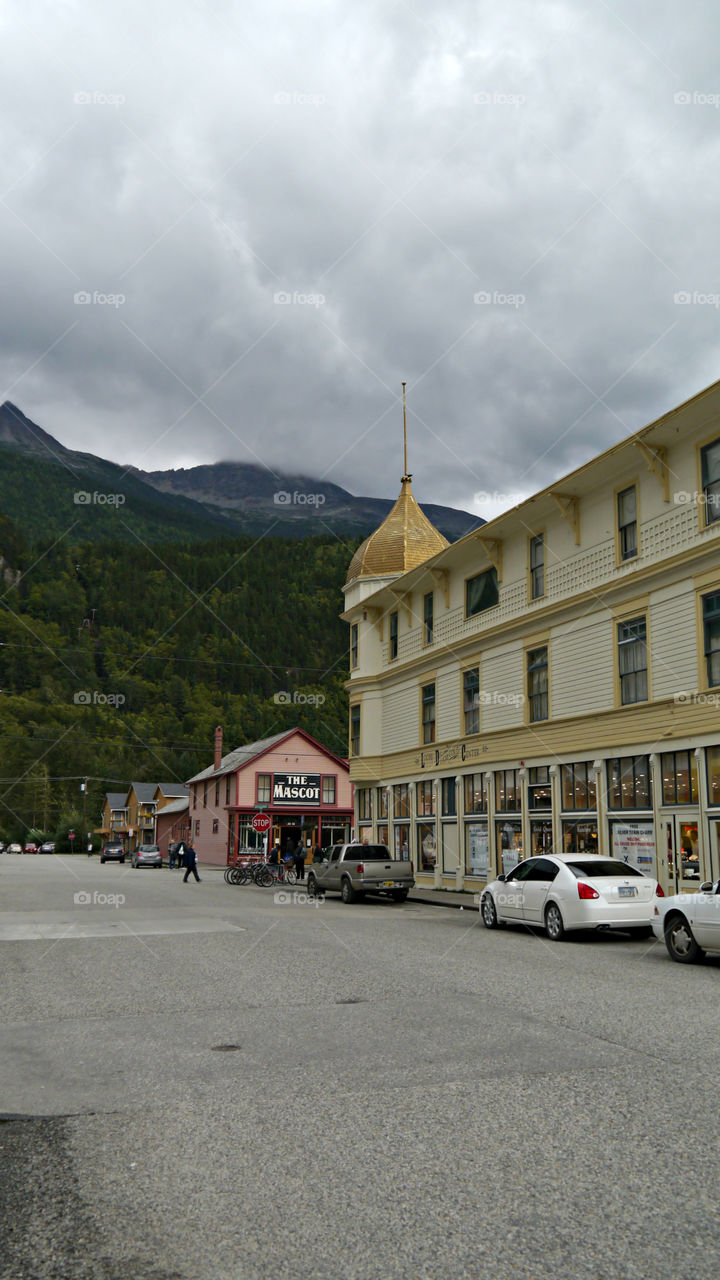 Skagway, Alaska Street. September 2013