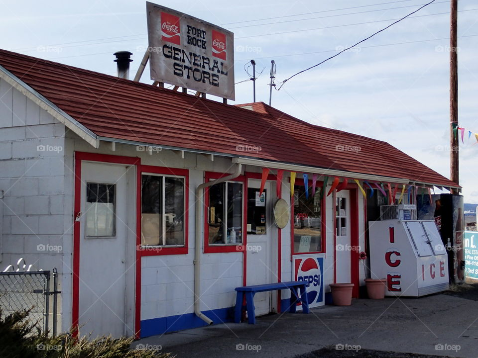 The Fort Rock General Store in rural Southern Oregon.
