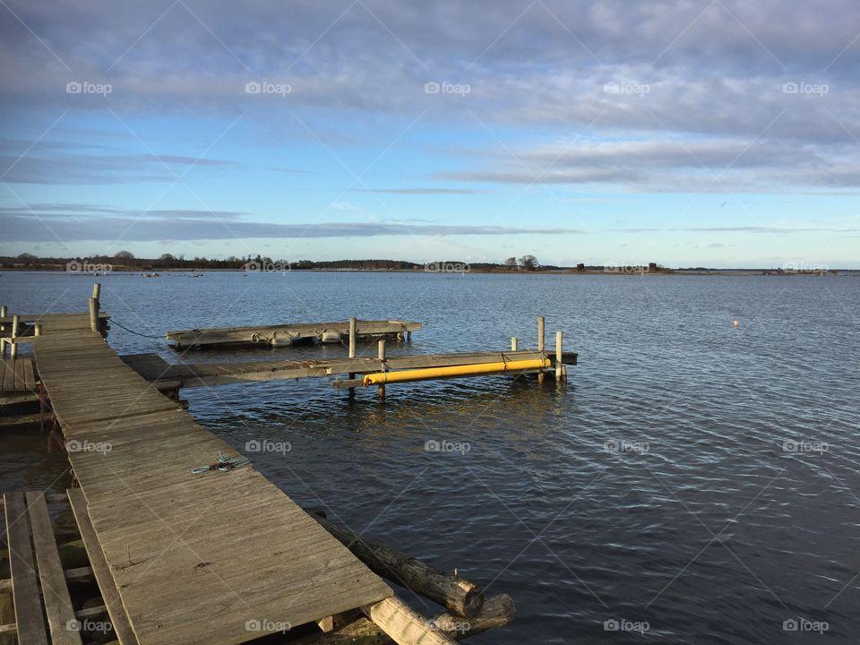 Empty pier over the sea
