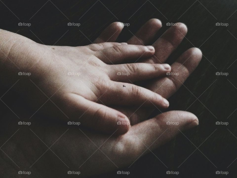 Mother and Child's Hands