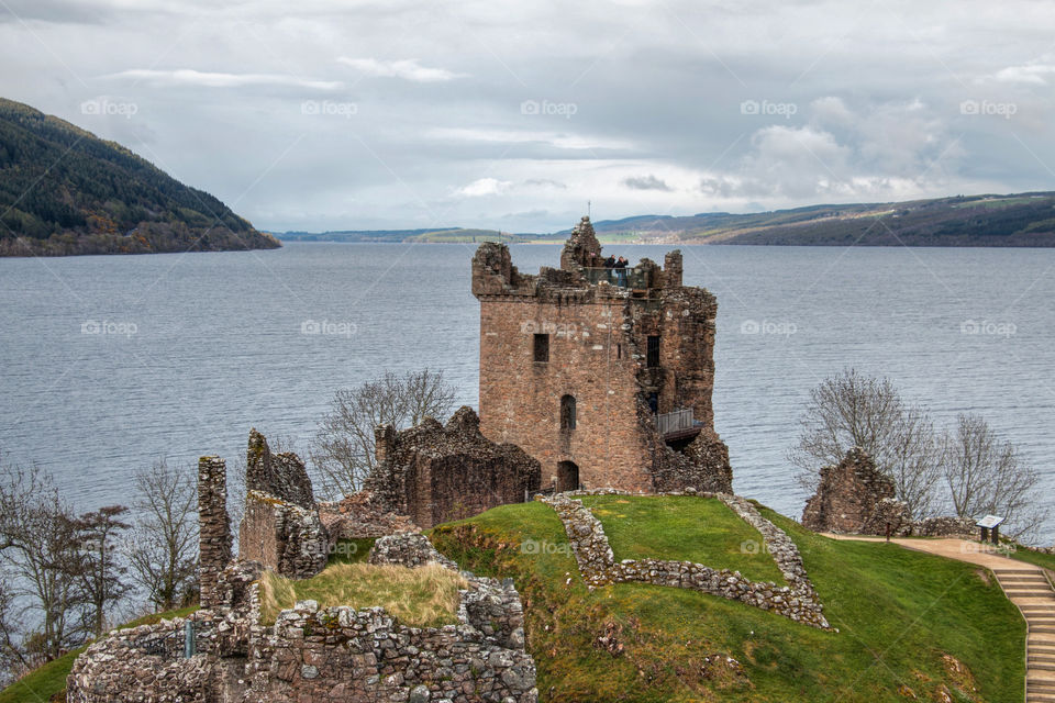 View of Urquhart Castle, Scotland