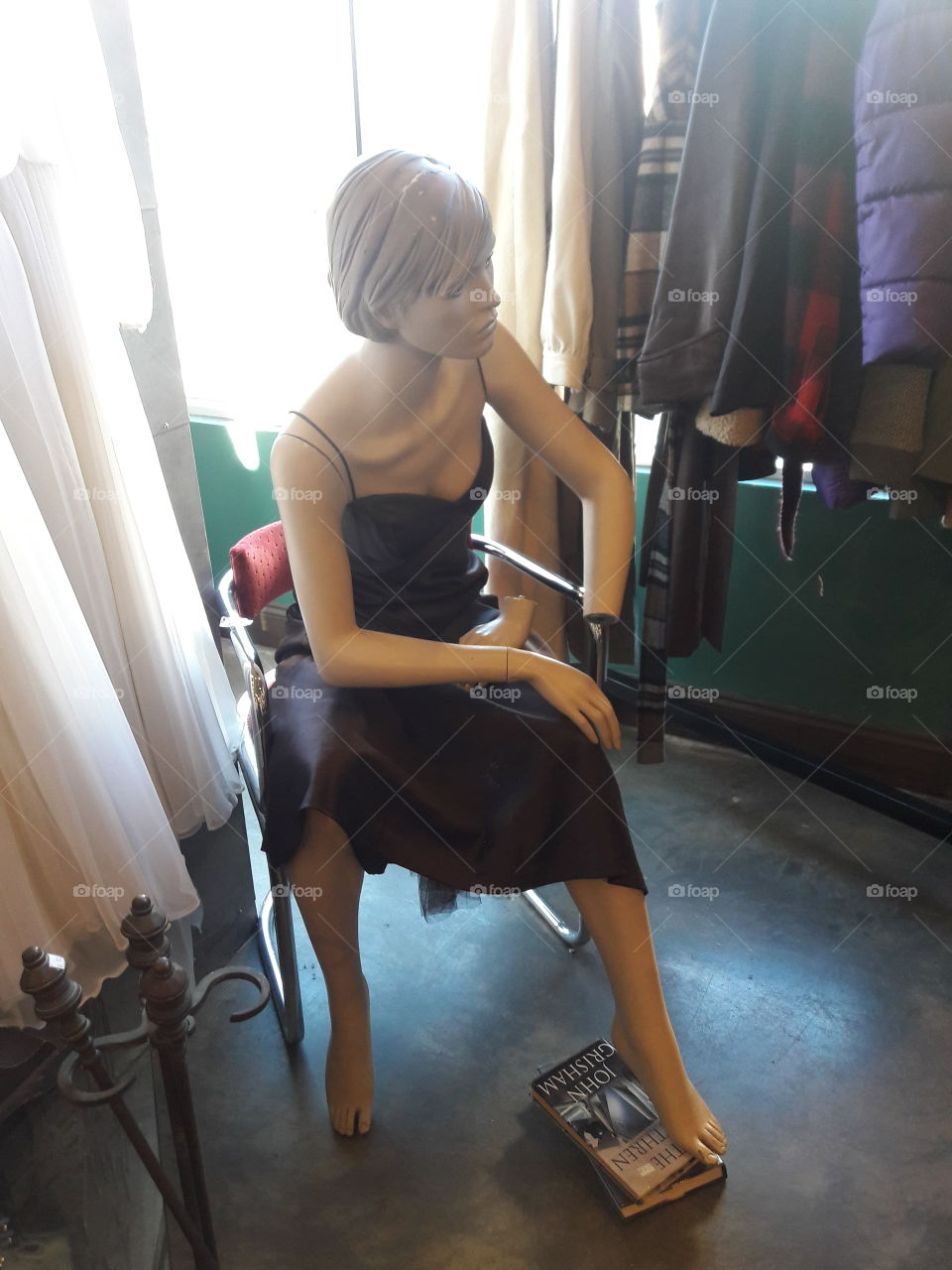 mannequin  at the thrift shop.
