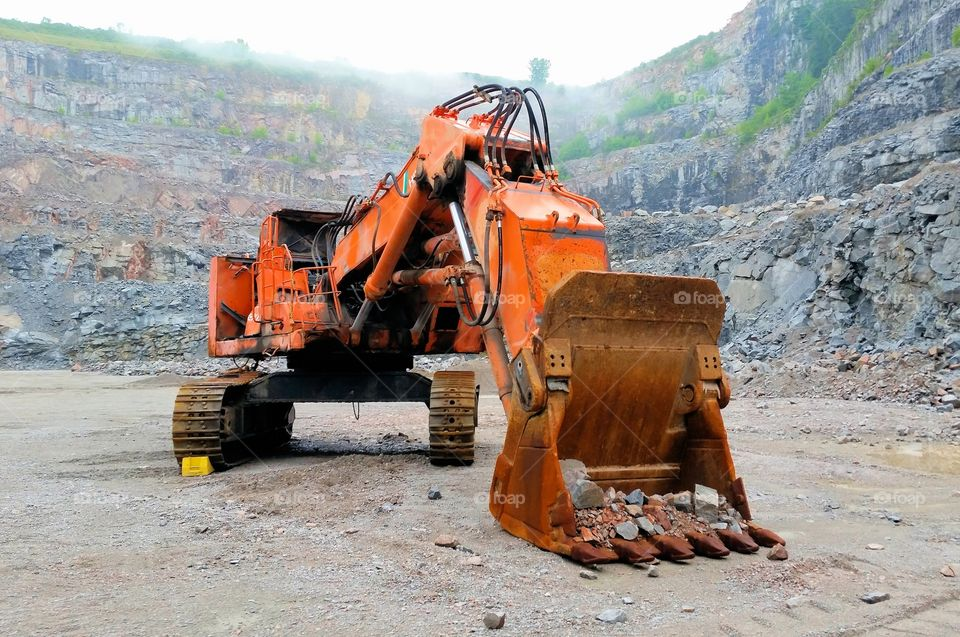 Dented & Damaged Quarry Excavator
