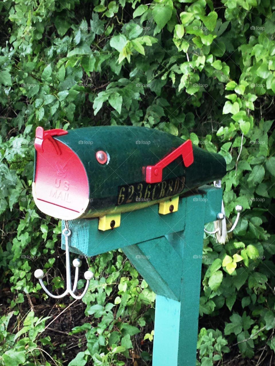 Fishing lure mailbox.