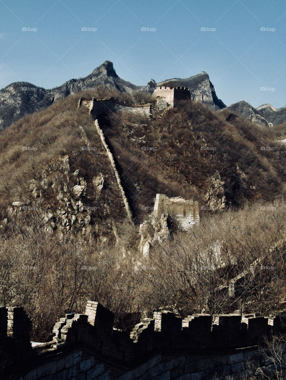 Hiking the ruins of the Great Wall near Beijing China