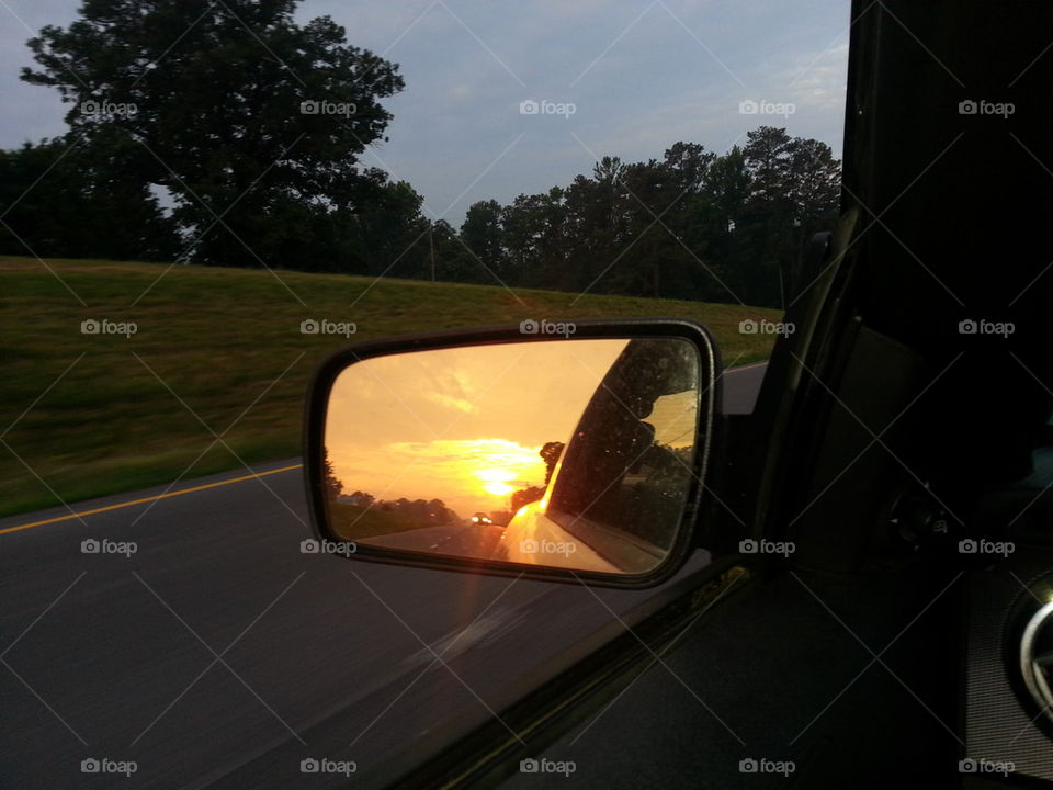 rear view sunrise