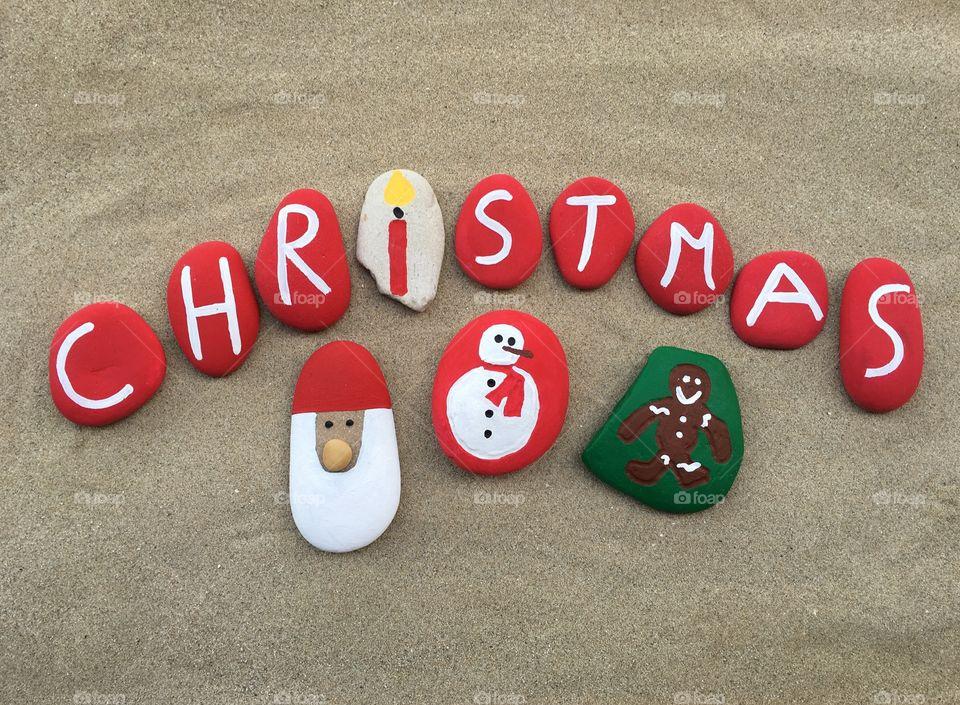 Christmas stones design