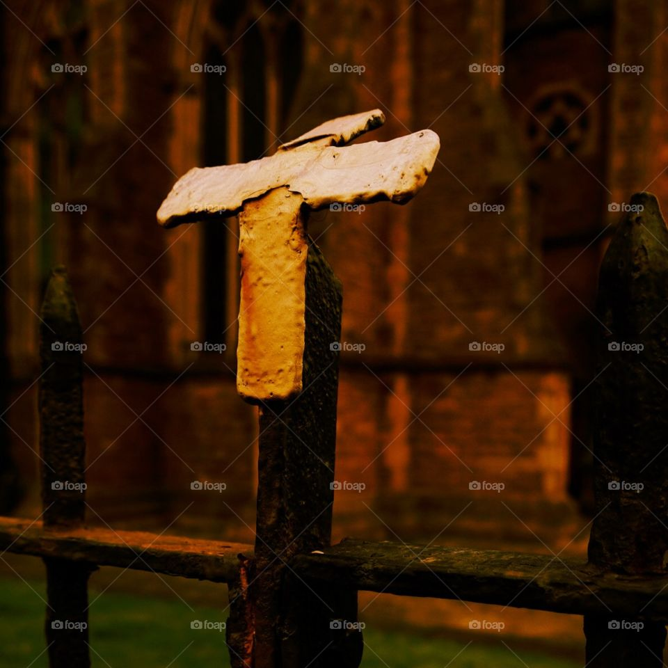 Show Us Your Best Photos, Cross Outside Of A Church In England