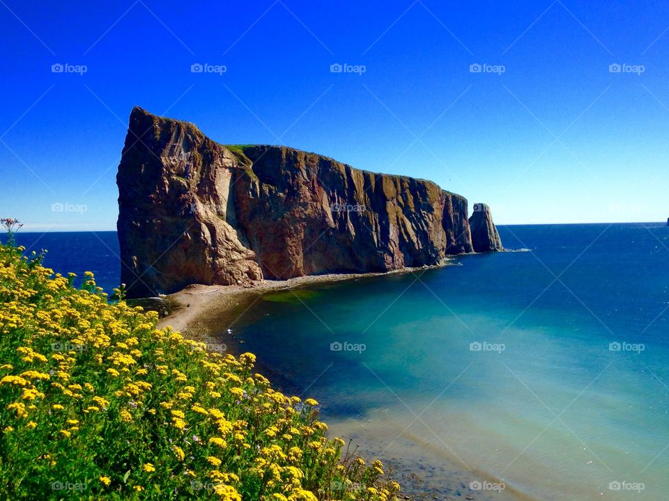 Stunning view of the perce historic rock.
