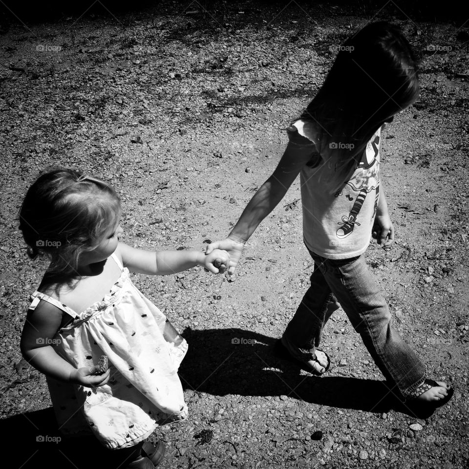 Helping hand. My niece helping everyone stay together.