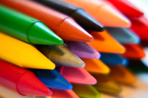 Colourful crayons