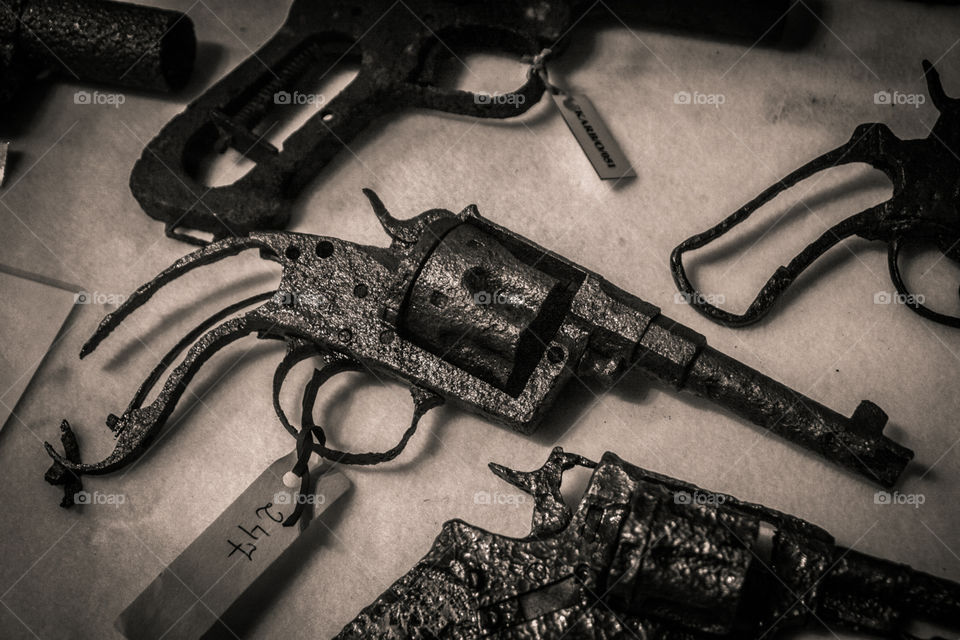 Old rusted gun
