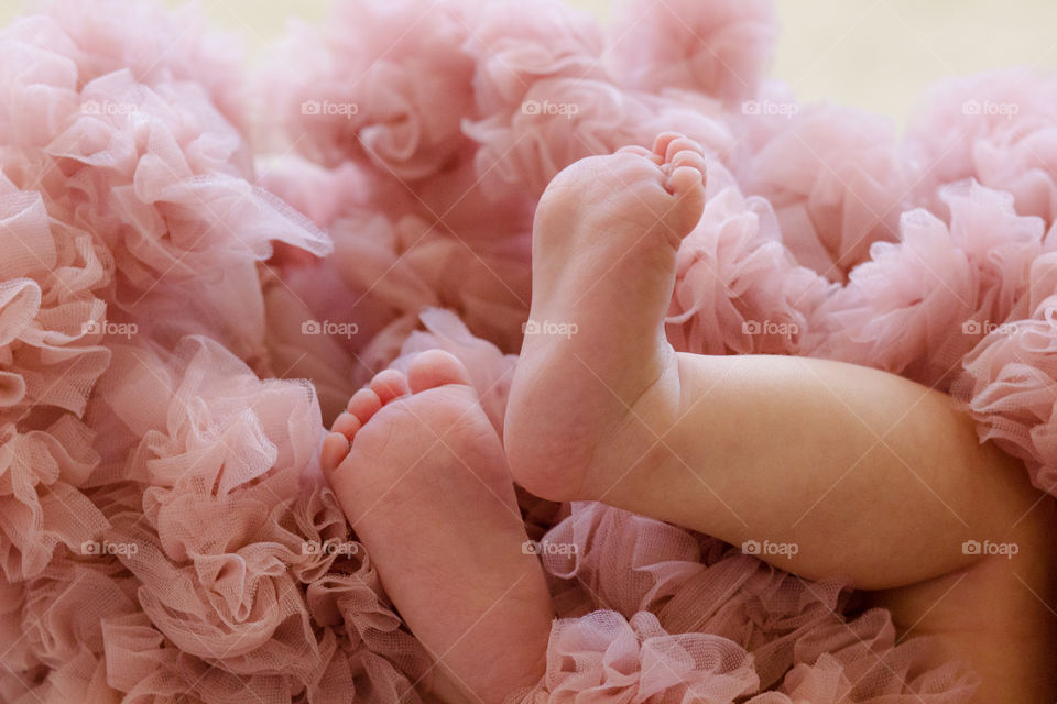 Close-up of baby foot