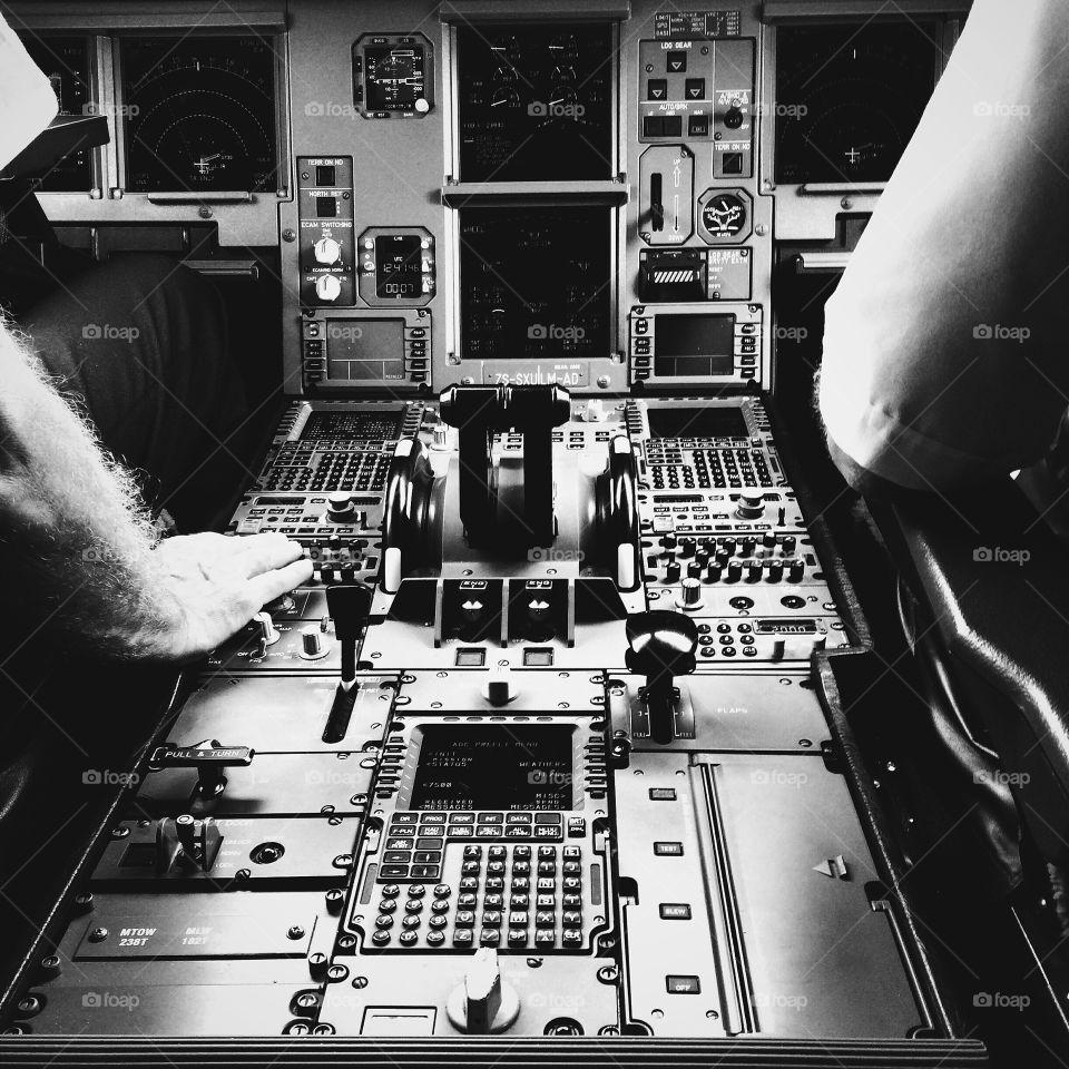 inside the cockpit