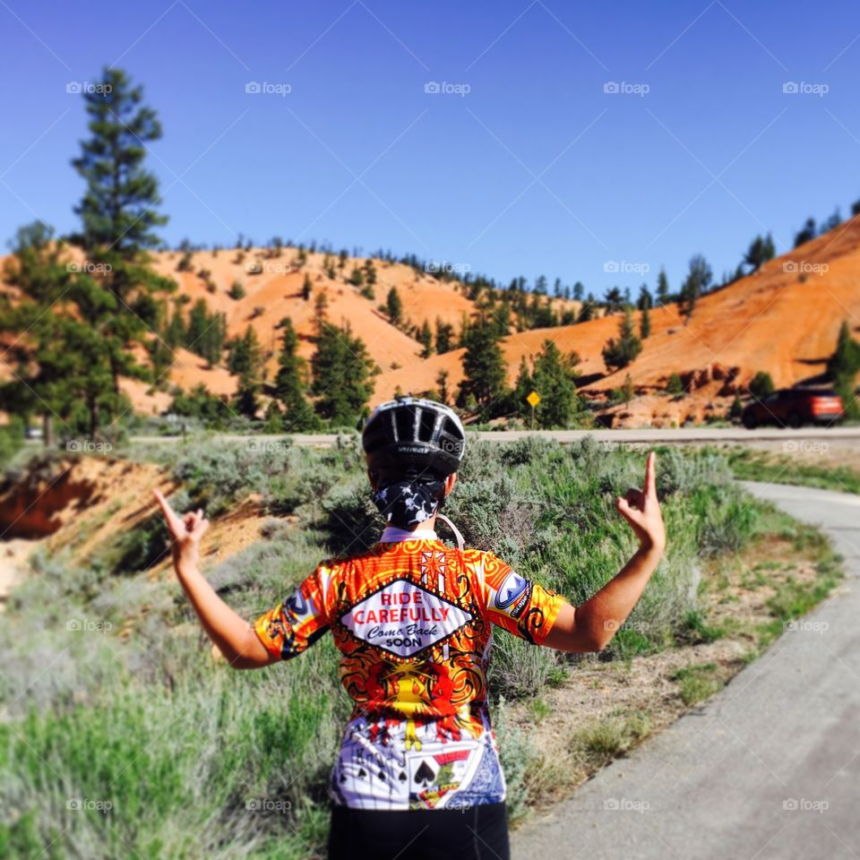 Cycling Adventures. An early morning bike ride before exploring the national parks of Utah