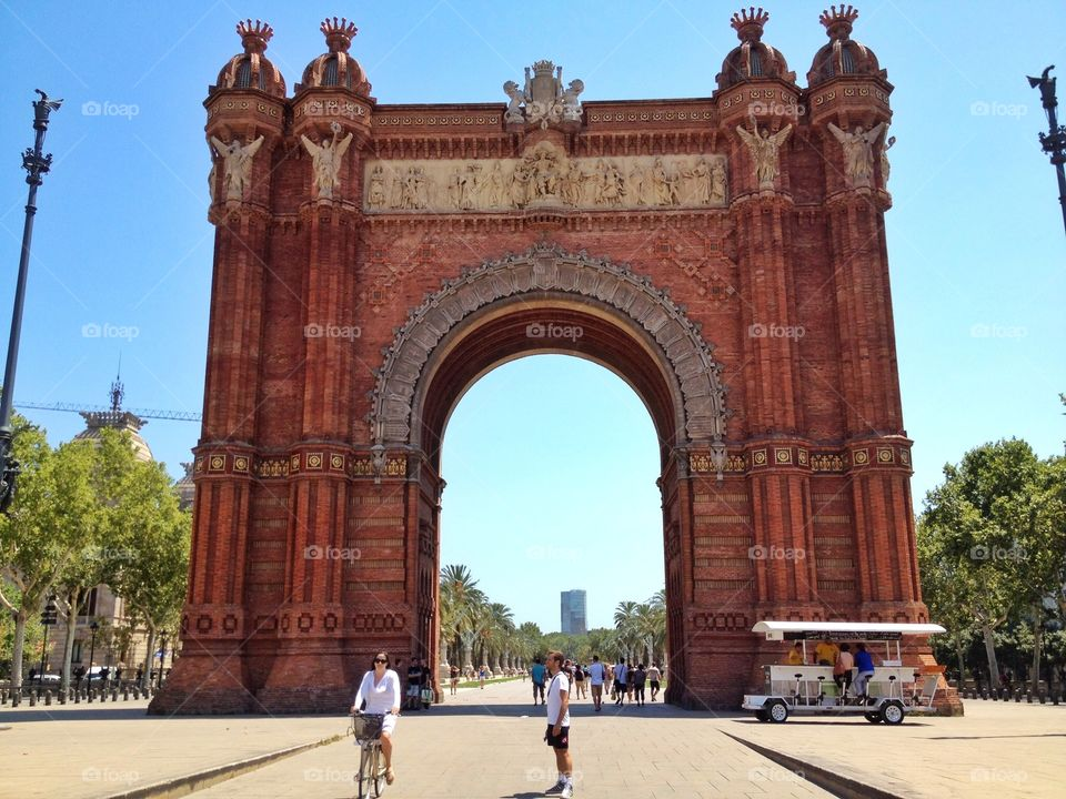 Big Arch. Big Arch monument in Spain