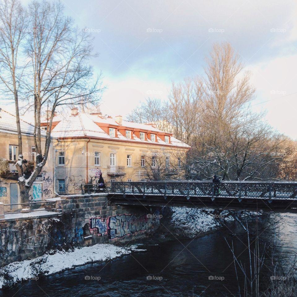 Winter day in Vilnius