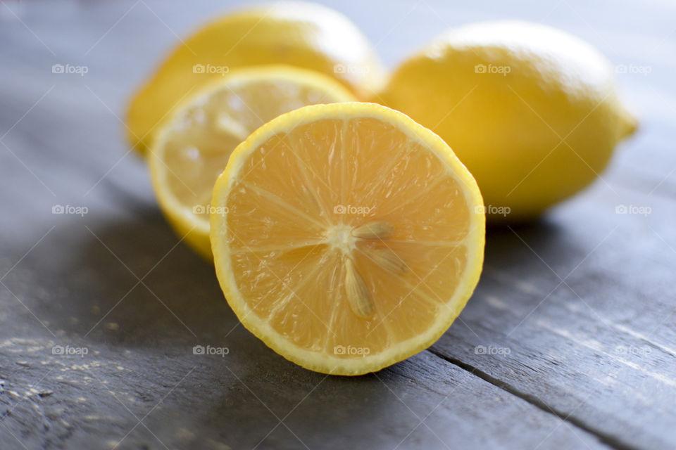 Fresh, delicious, yellow lemons