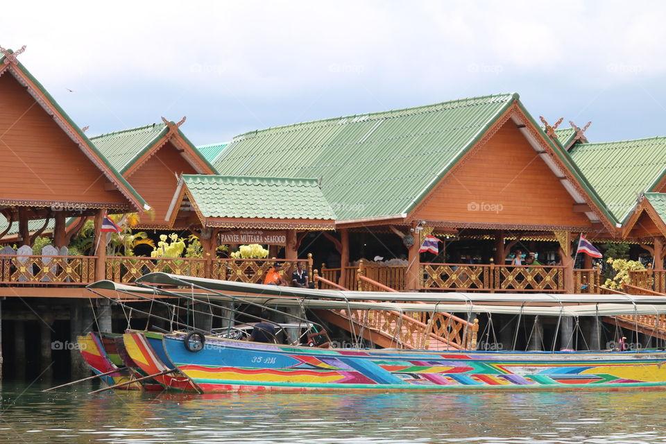 Village on the water at Phan Nga bay - thailand 2018