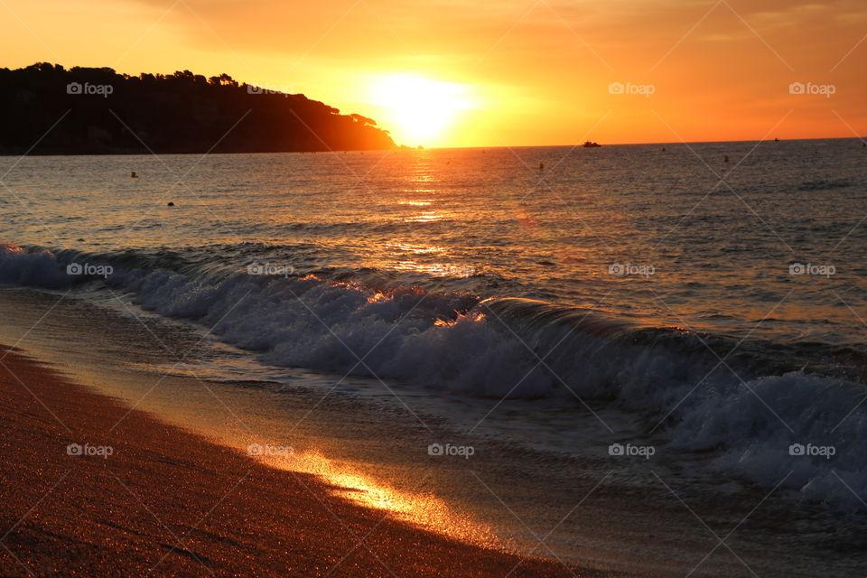 Sunrise over Mediterranean
