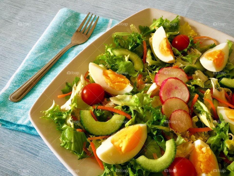 Healthy lunch- Egg salad