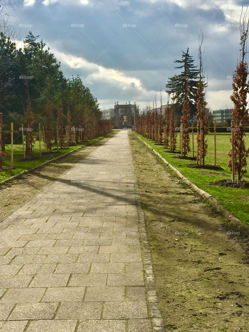 Red Army Cemetery entrance. Wroclaw, Poland