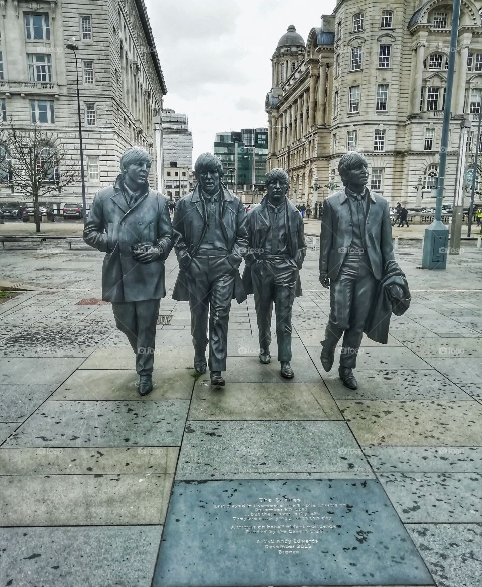 The fab four statue Liverpool
