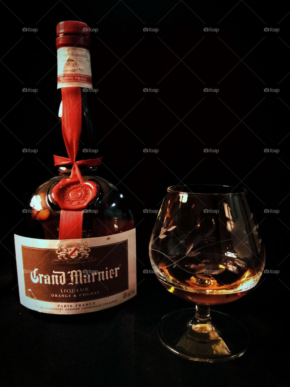 Grand Marnier in Princess House Snifter