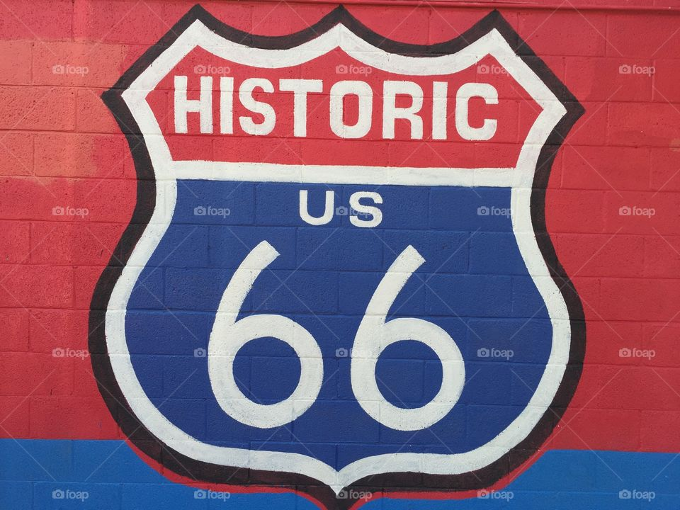 Historic route 66. Historic route 66 painting