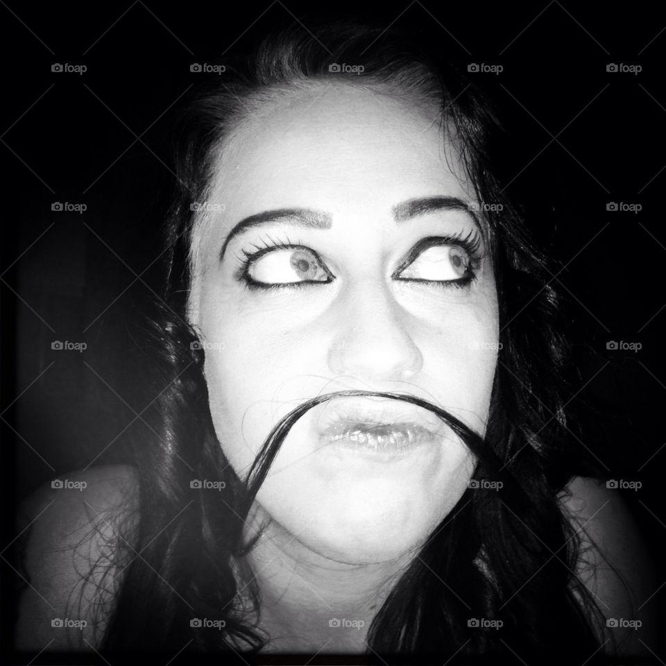 Portrait, Monochrome, Face, Girl, Model