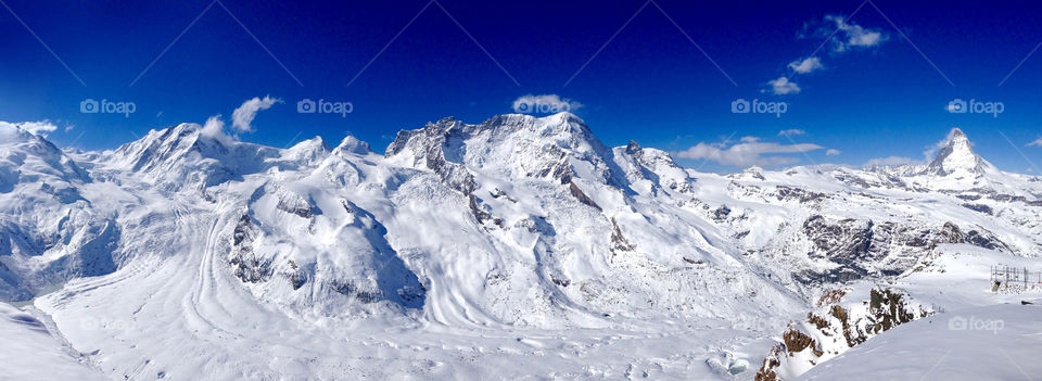 View of snowy mountains
