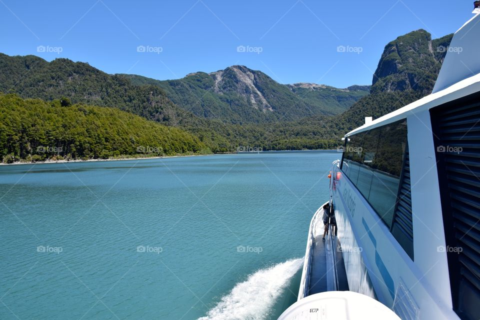 Boat ride Lake Frias Argentina