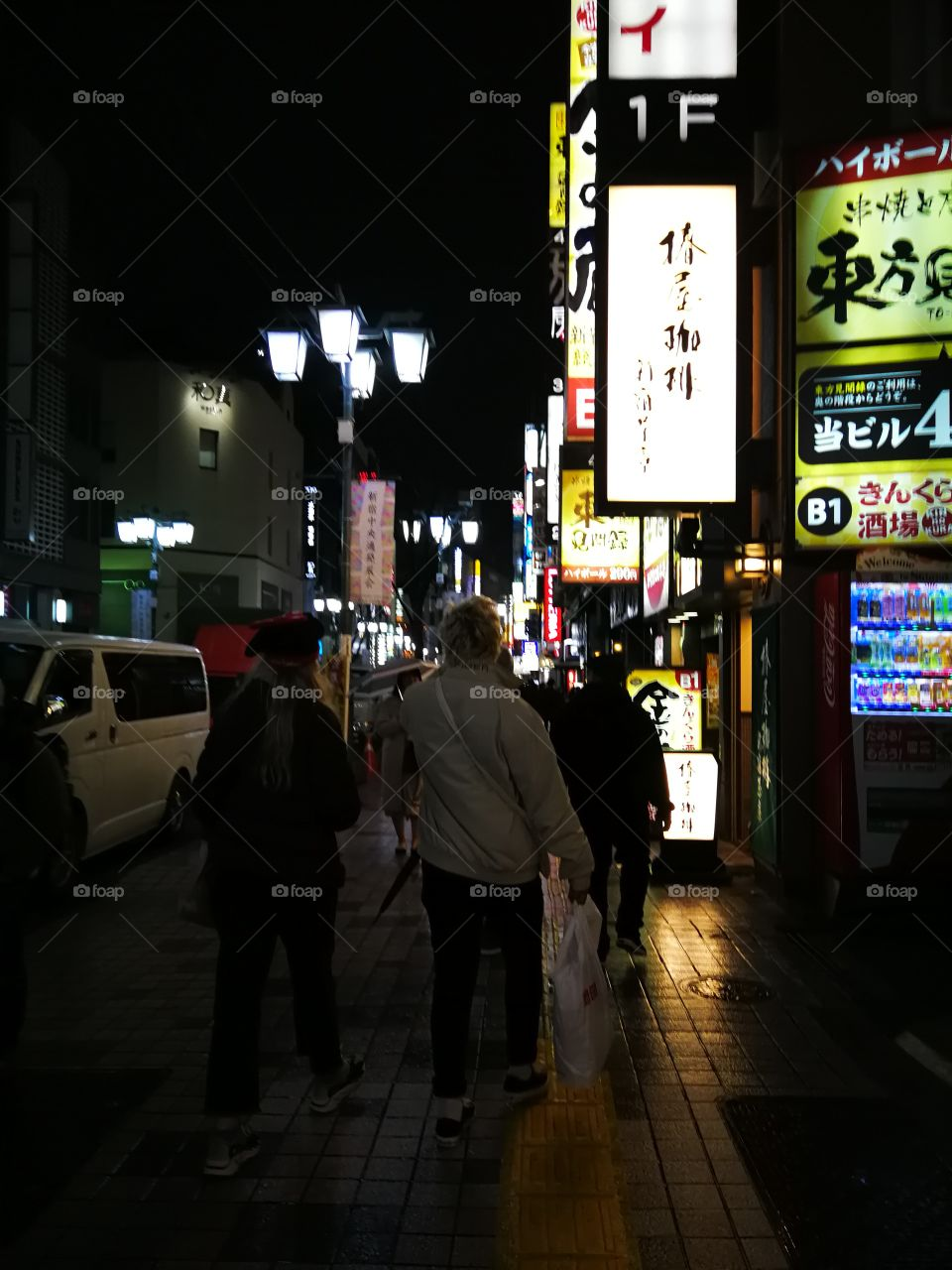 Walking in the streets of Tokyo