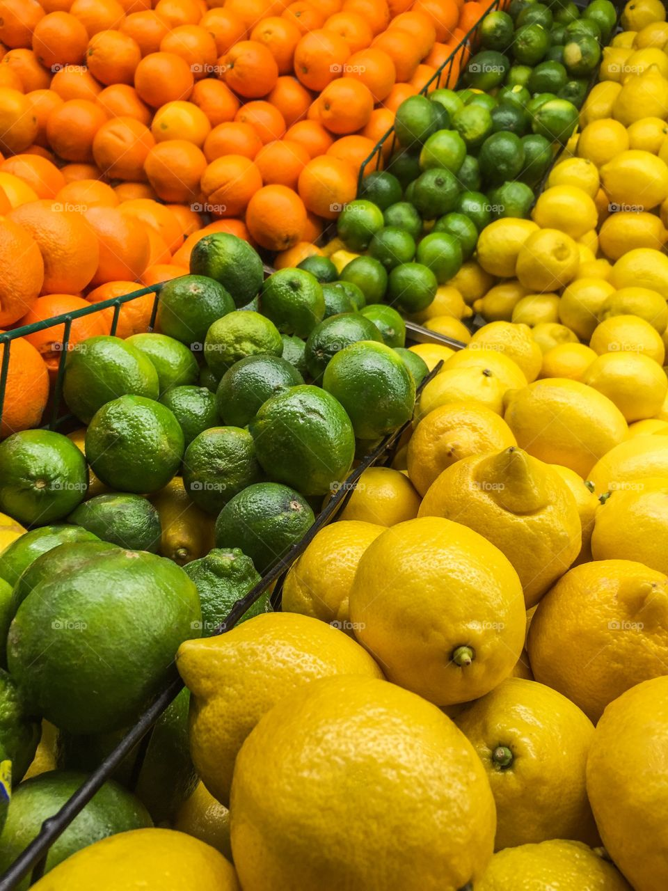 Fresh fruit in shelf in supermarket