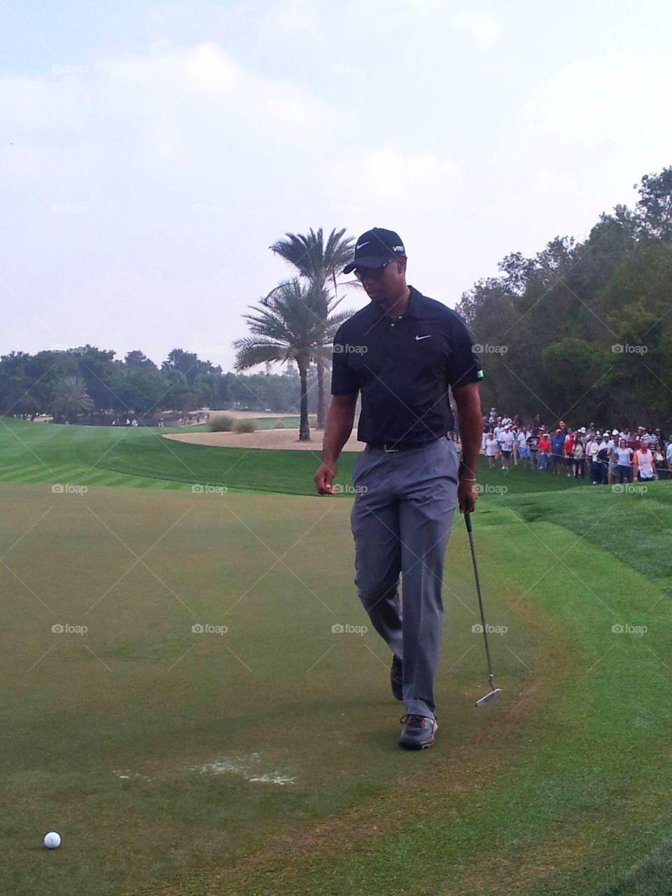 Tiger Woods Dubai 2015