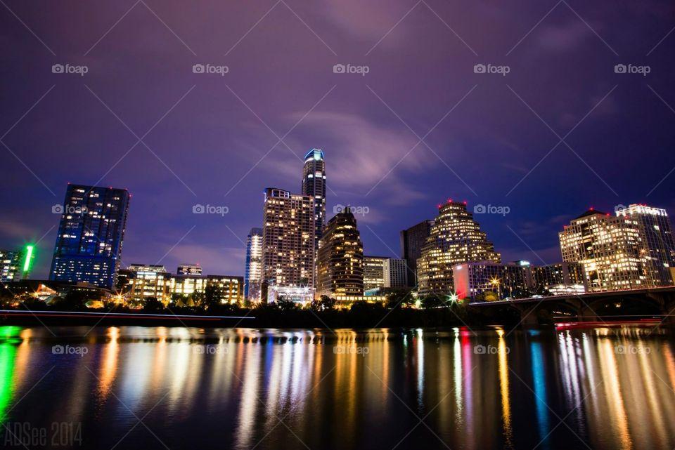 Austin Texas at night