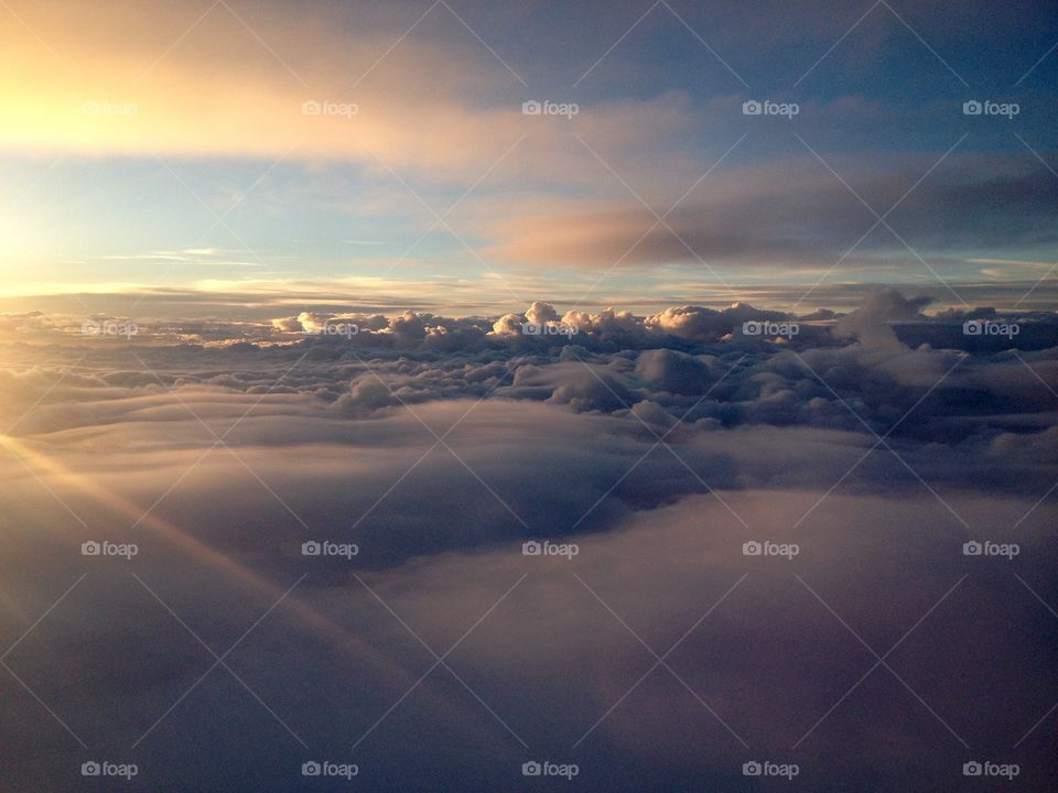 View of a cloudscape during sunset
