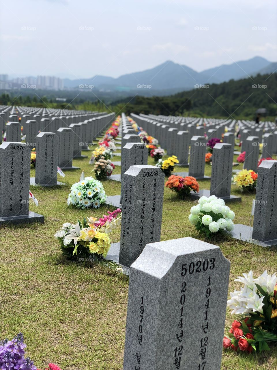 Beautiful South Korean Structures and Veteran Cemeteries