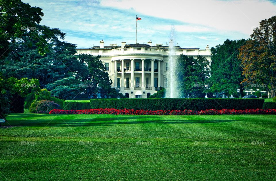 White House HDR. A rare photo of the White House before the security fence.