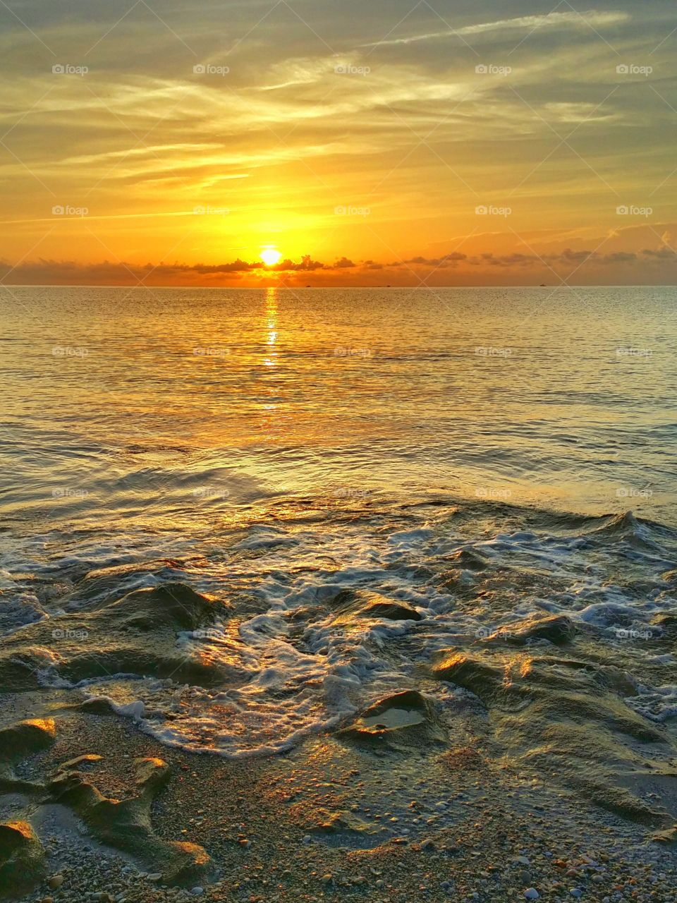 View of sea during sunrise