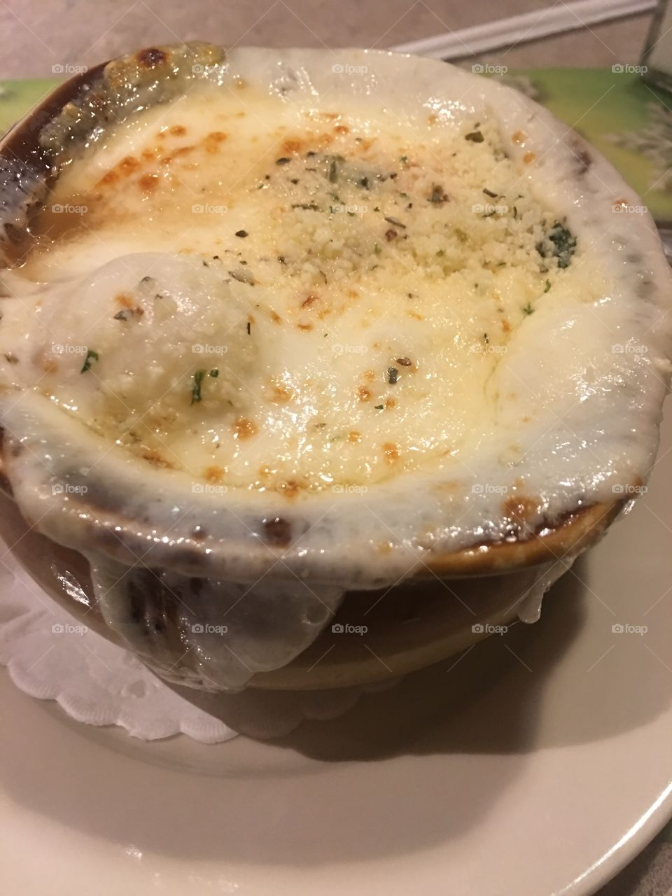 Beautifully put French onion soup.