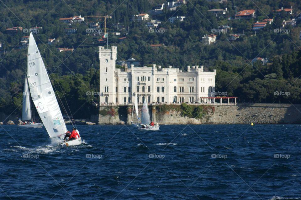 Sailing in Trieste . Barcolana 2007