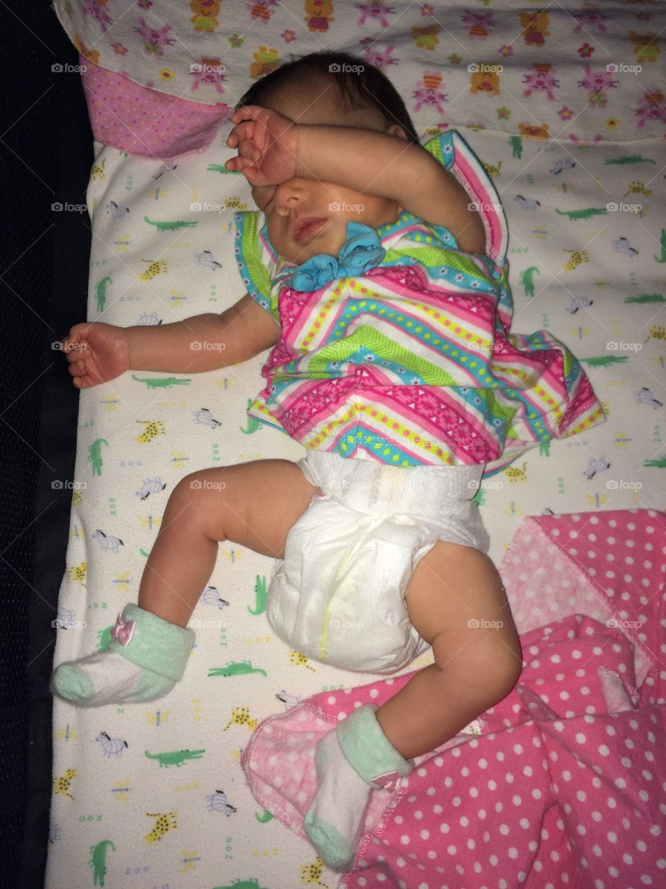 She had a rough day. It was so rough that she is dancing in her sleep. It isn't easy to be a preemie princess.