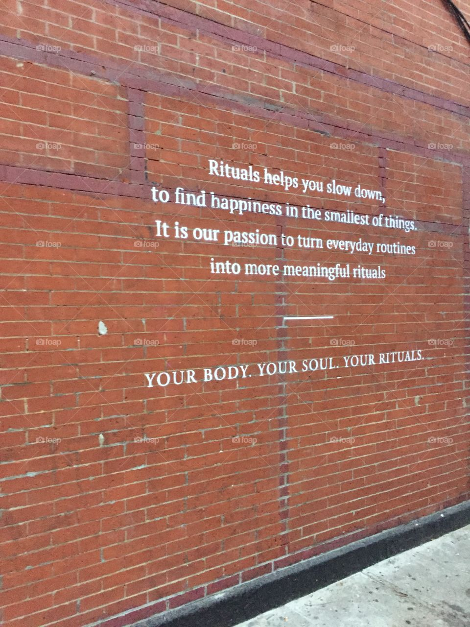 Quotes on the wall of Brooklyn inspire