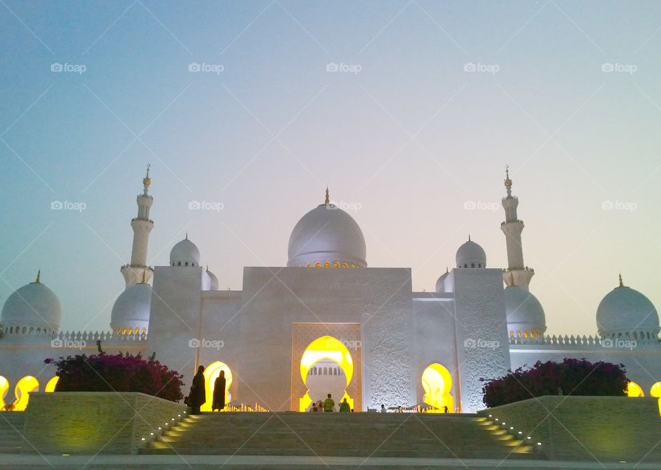 Sheikh Zayed Grand Mosque. Be captivated by the majestic Sheikh Zayed Grand mosque located in the capital city of United Arab Emirates, Abu Dhabi. A place not only for worshippers but a place that opens its doors to everyone willing to learn their culture and religion.
