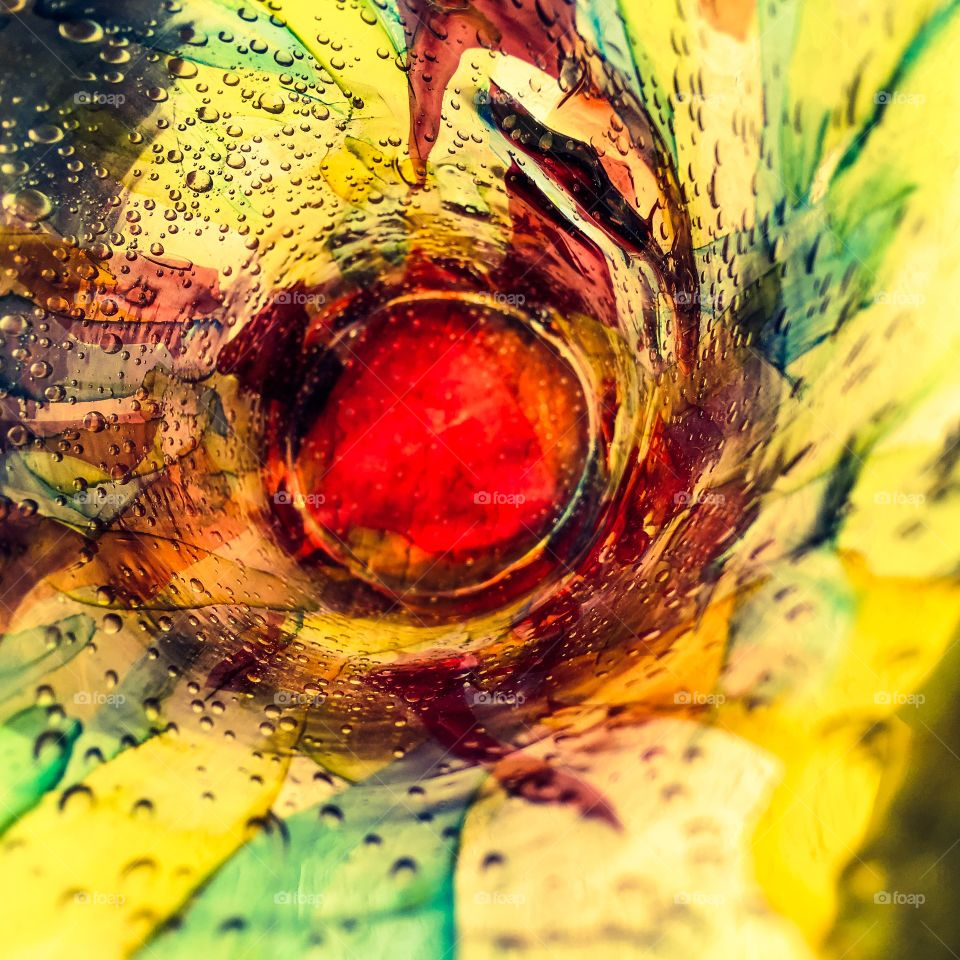 Abstract - inside of a hand painted vase