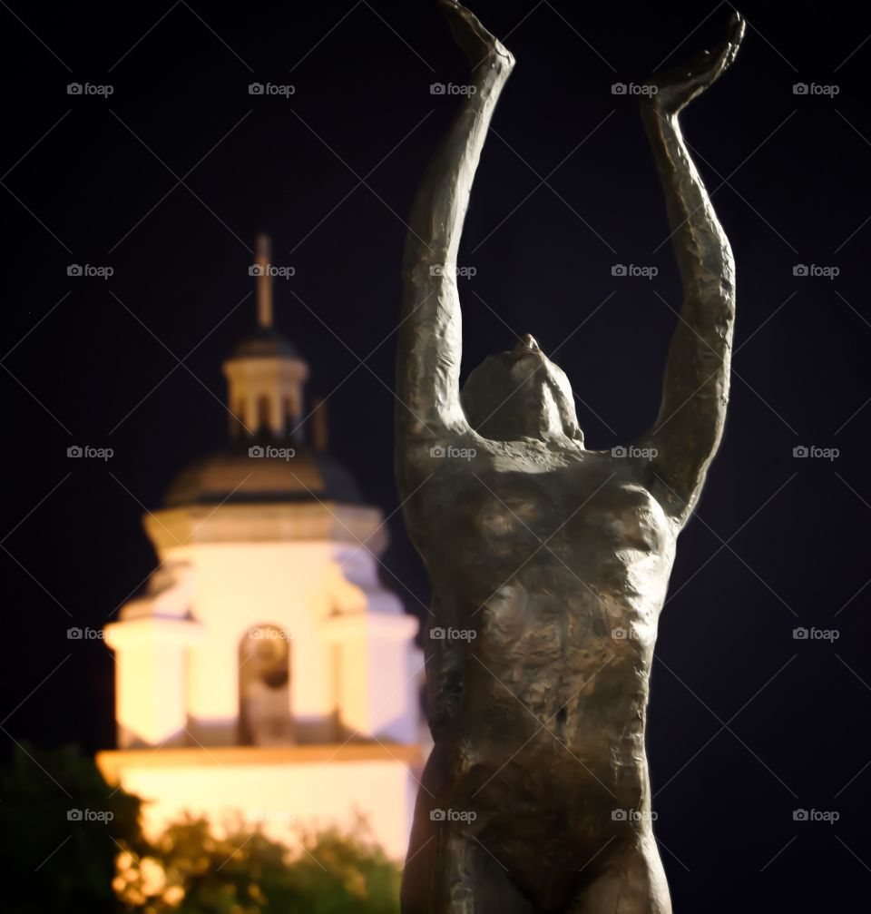 Sculpture reaching towards the sky