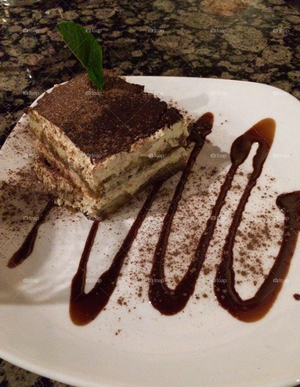Tasty Tiramisu. Girls night out this is what Carol chose for her dessert ...