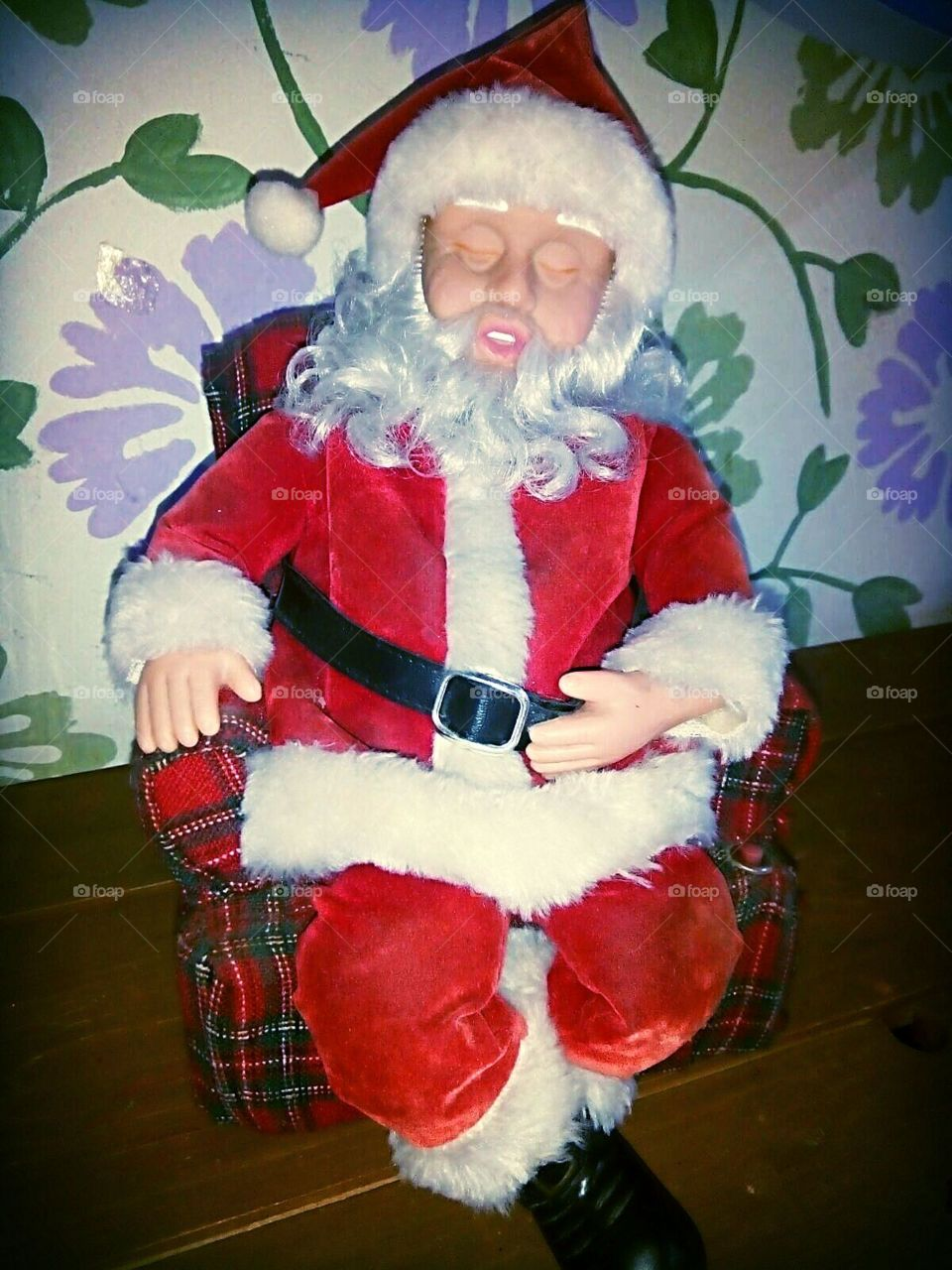 toy Santa Claus sleeping