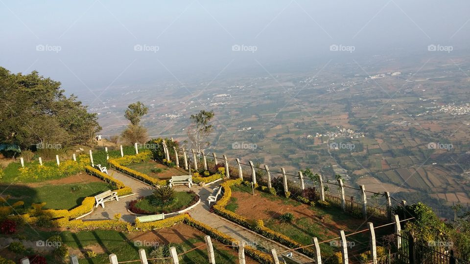 At the top of hill station chikamangaloor